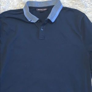 Michael Koros polo shirt dark blue